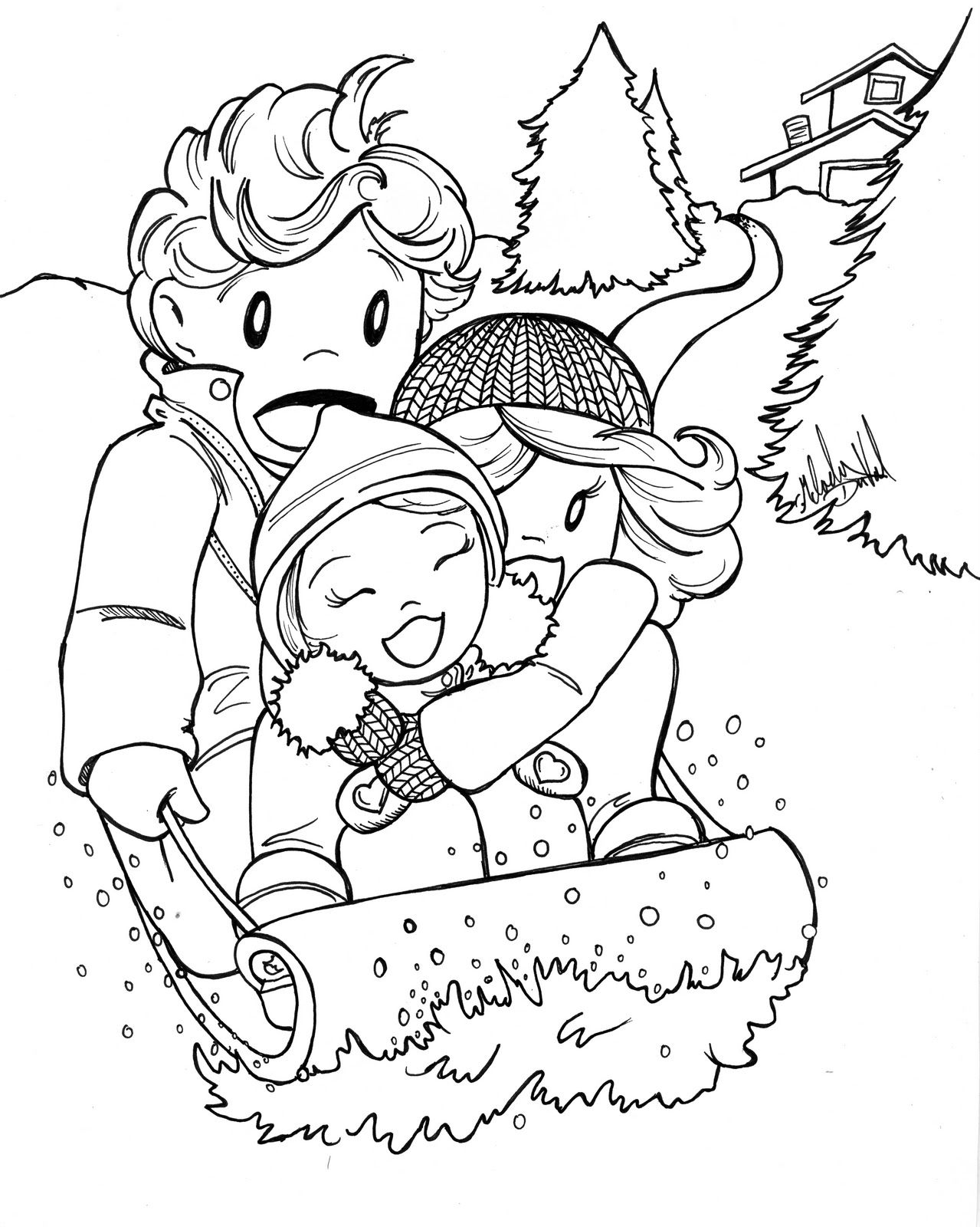 Free Printable Coloring Pages For January