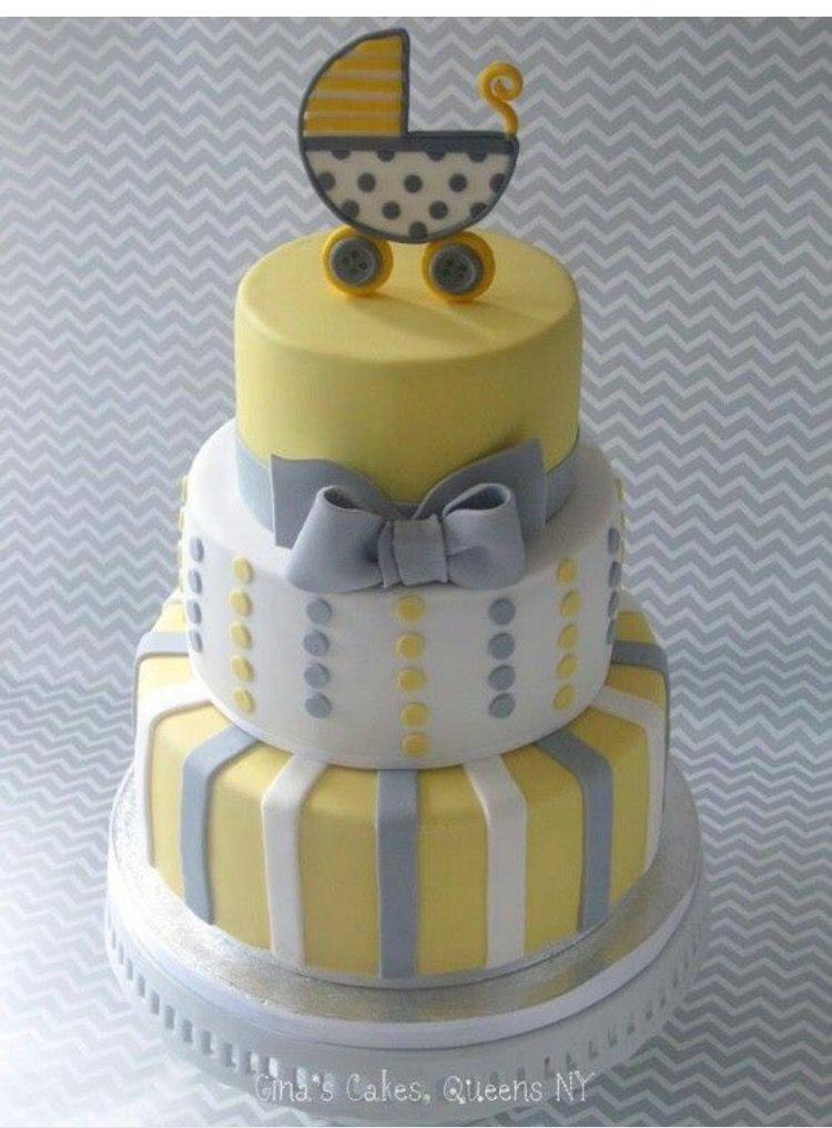 Baby Cakes Yellow And Grey