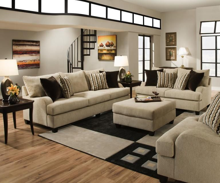 Simmons 8520 2 Piece Living Room Set is part of Industrial Living Room Red - AManufacturer SKU 8520