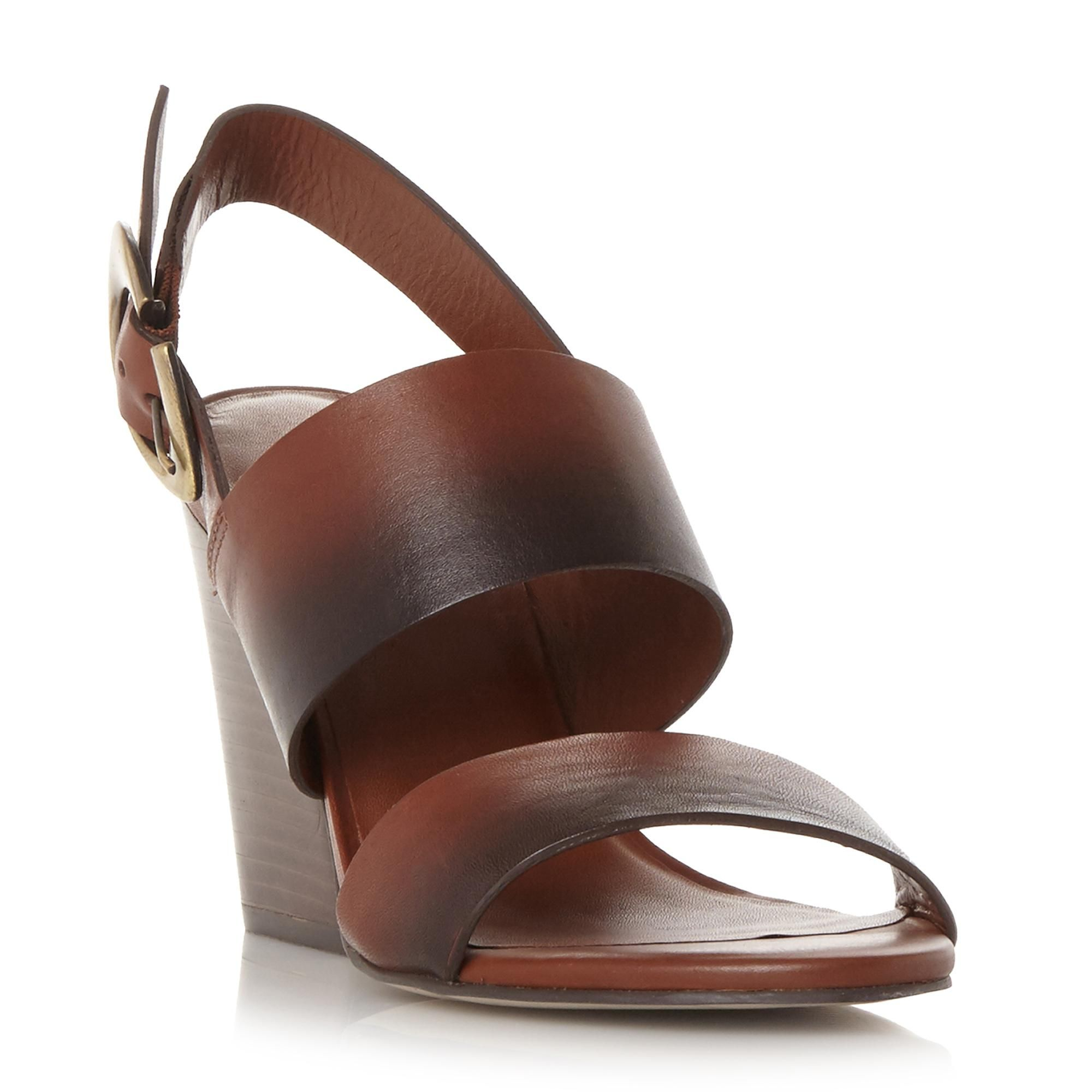 c3f3db7f6 DUNE BLACK LADIES JAVAR - Tapered Block Heel Sandal - dark tan