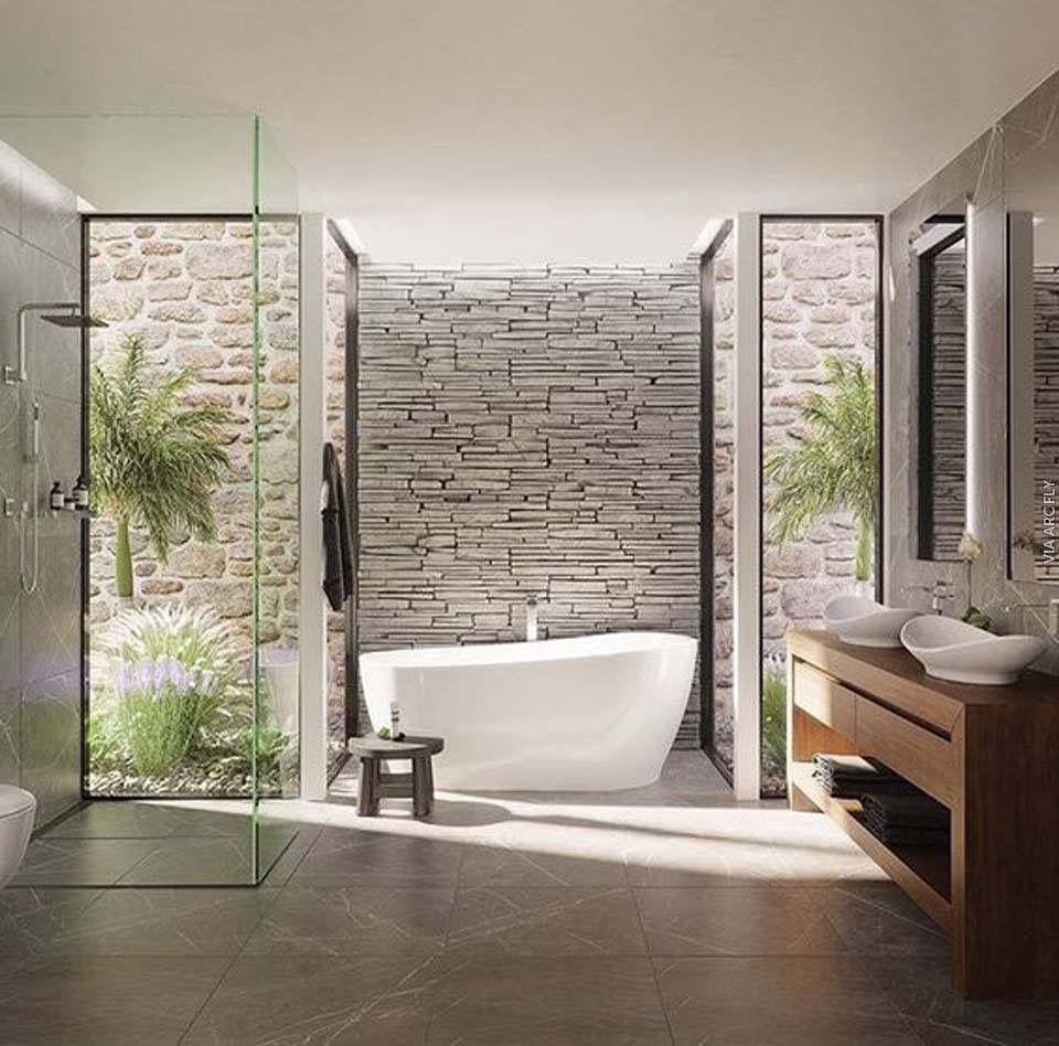 Clean Modern Open Concept Bathroom Glamorous Bathroom Bathroom
