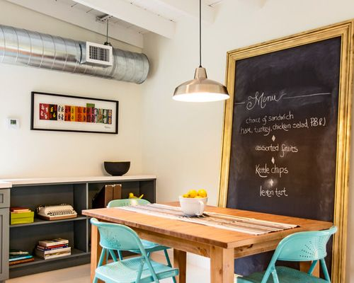 Eclectic Dining Room Photo In Miami With White Walls Mdash Nbsp - Chalkboard accents dining rooms