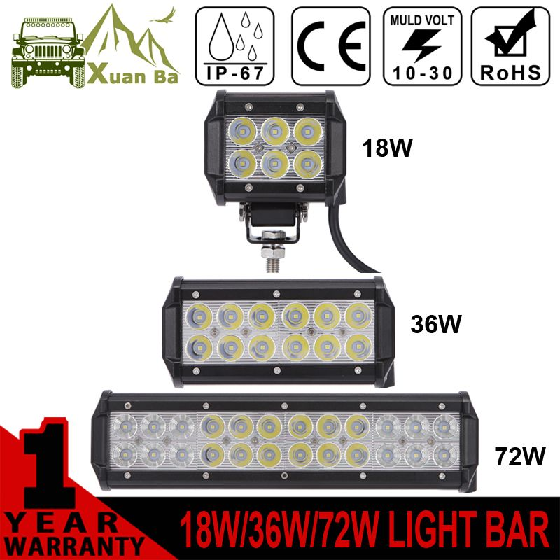 Xuanba mini 18w led ligh bar for motorcycle driving 4x4 offroad cheap bar bar buy quality bar led directly from china bar led 12 inch suppliers xuanba inch led light bar for atv offroad work trucks auto drl focos off mozeypictures Image collections