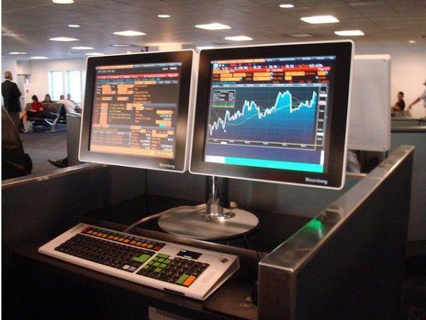 A Bloomberg Terminal In A La Guardia Terminal Haus