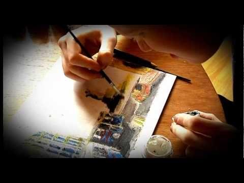 Pintura sensorial para personas ciegas o con baja visión. - YouTube