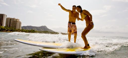 #Hawaii is the birthplace of more modern #surfing with history of surf culture going back to the days of #DukeKahanamoku who was instrumental in bringing surfing to forefront of western beach cultures. The spirit of #Aloha is ever present with a Surf pilgrimage to #Oahu, and in particular the picturesque #Waikiki Beach. Learn to or just surf in the calm waters within view of the iconic #DiamondHead a majestic setting for a simple yet pleasurable Hawaiian surfing experience.