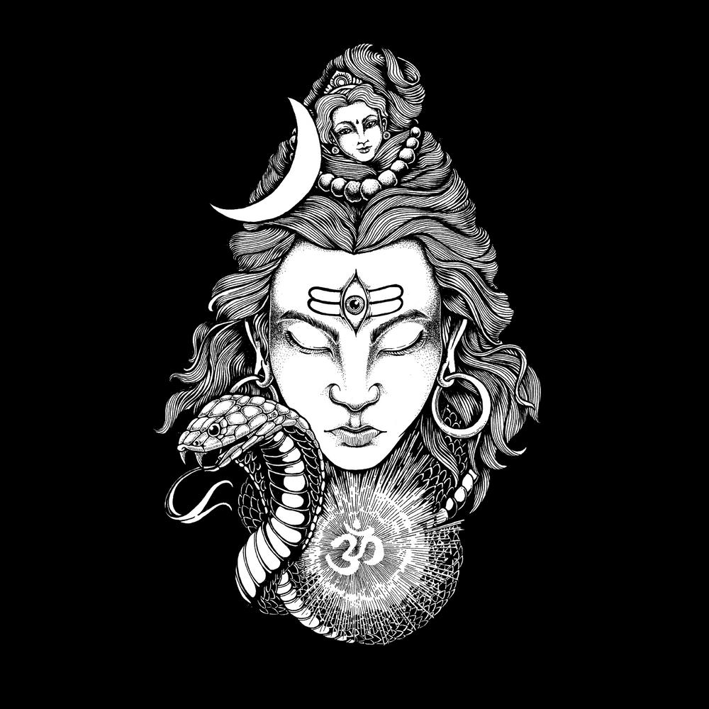 Lord Shiva Art Print By Wayan Bayu X Small In 2020 Shiva Tattoo Design Shiva Tattoo Shiva Art