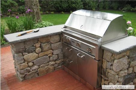 Outdoor Stone Grilling Station Outdoor Kitchen Countertops