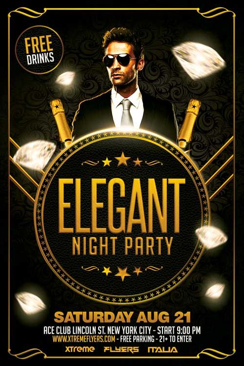 Free Elegant Flyer Template serato Pinterest Flyer template - club flyer background