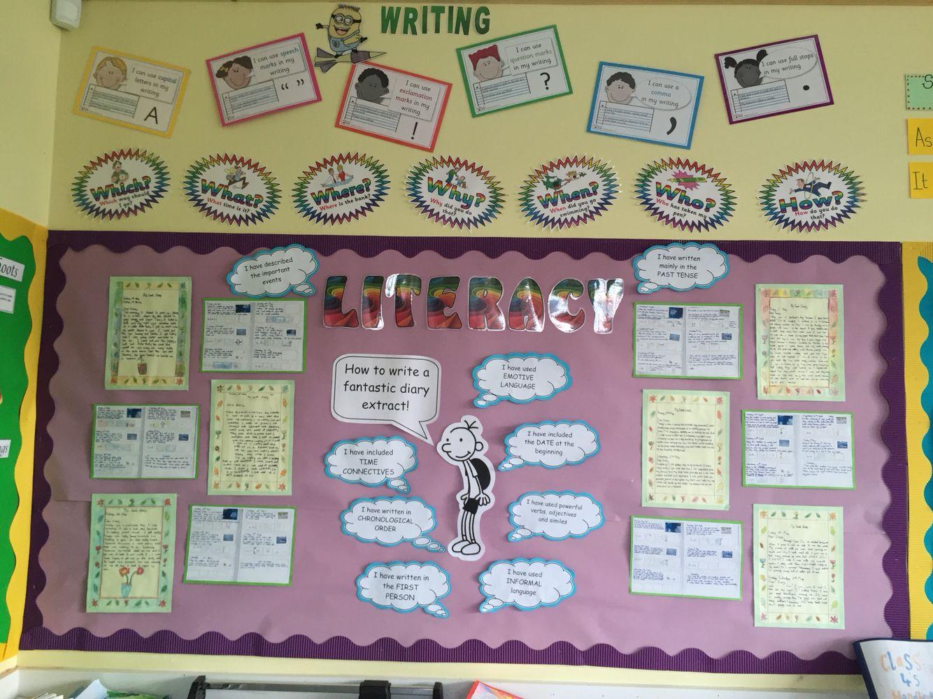 Diary writing literacy ks2 year 3 display | Elizabeth | Pinterest