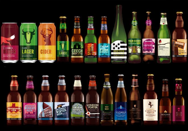 Reorganisation and redesign of Beer and Cider portfolio from brandhouse