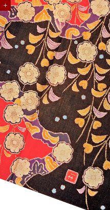 textile by itchiku tsujigahana japan fabric pinterest fabrique asie et japonais. Black Bedroom Furniture Sets. Home Design Ideas