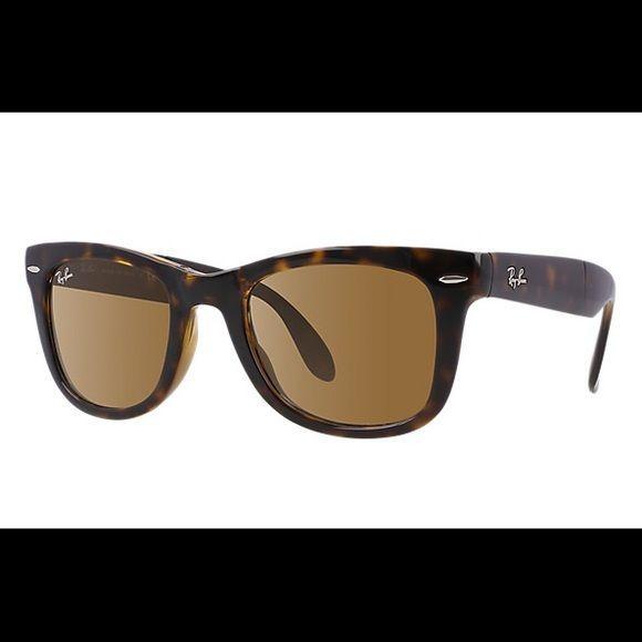 a8316005e4 Wayfarer Folding Classic RayBan Sunglasses Brown Classic B-15. They were my  old sunglasses
