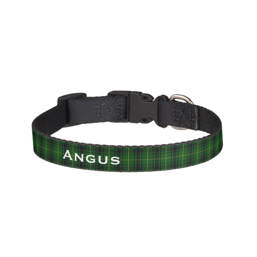 Classic Macarthur Tartan Plaid Custom Dog Collar Zazzle Com Custom Dog Collars Personalized Dog Collars Dog Collar Tags