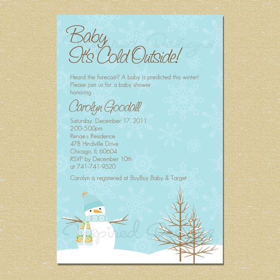 10 perfect winter baby shower invitations | babble – unitedarmy, Baby shower invitations