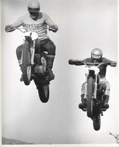 Flying Vintage Motocross Racing Bikes Vintage Motorcycles