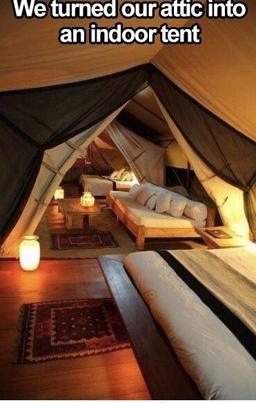 Attic Ideas Make A Tent In An Old Space LivingLiving Room Bed Living SpacesPillow FortsPillow RoomBlanket