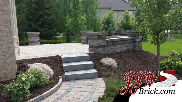 Brick Patio Design In Rochester Hills Mi With A Blend Of