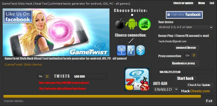 Gametwist Twist Cheat