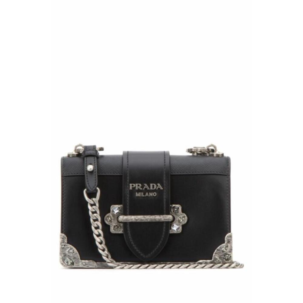 Photo of Prada Prada Cahier bag new Handbags Leather Black ref.100804