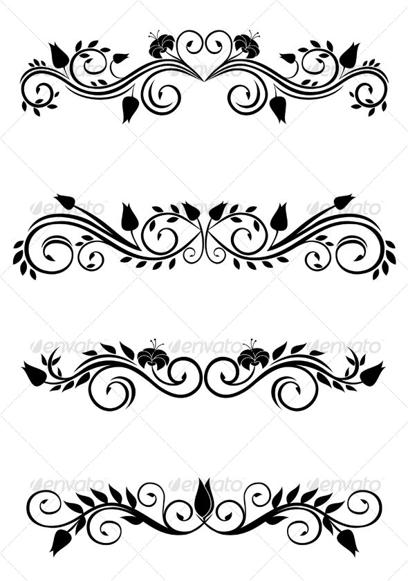 Floral Decoration vintage floral decorations | fonts-logos-icons | pinterest