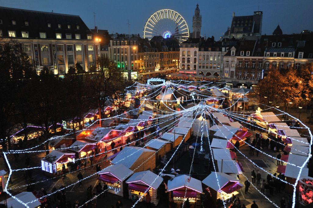 Le marché de Noël de Lille, vue d\'en haut crédit : Julien Sylvestre ...