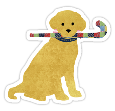 Yellow Lab Retriever Field Hockey Dog Sticker By Emrdesigns Preppy Stickers Field Hockey Field Hockey Stickers