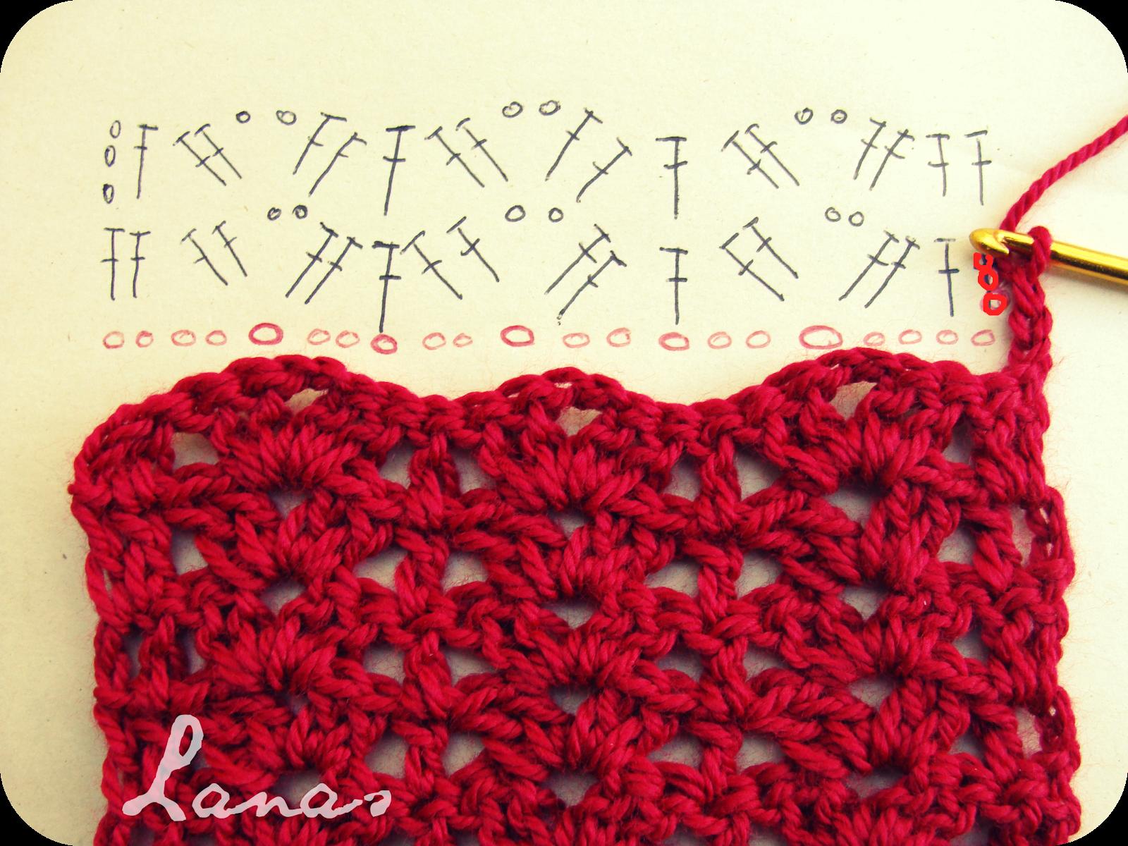 Lanas de Ana: RED SCARF (Graphic Pattern) Sencilla y bonita ...