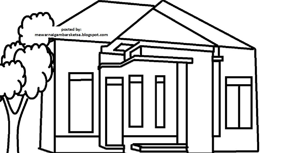 Mewarnai Gambar Rumah Di 2020 Gambar Sketsa Warna