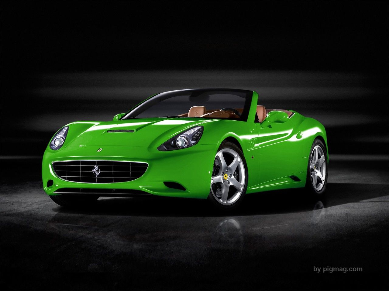 Green Sports Cars 2009 Ferrari California 187 2009 Ferrari