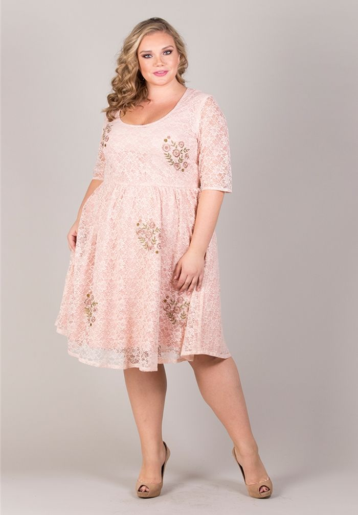 Awesome Blush Pink Plus Size Dress Gallery - Mikejaninesmith.us ...