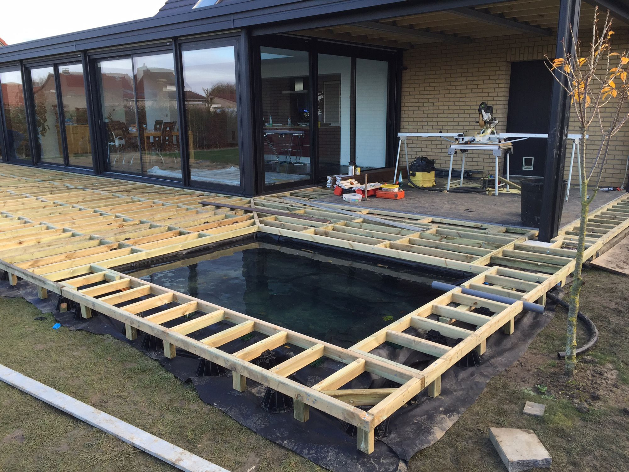 Am nagement jardin modification terrasse terrasse en for Piscine jardin arras