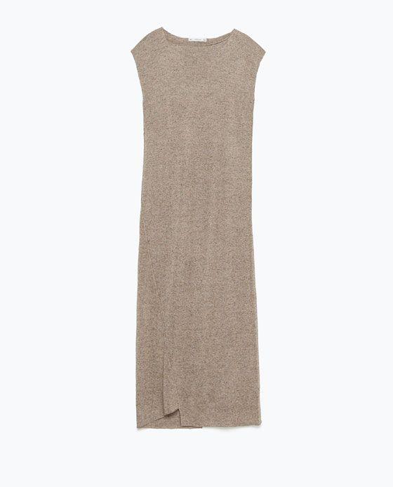 Image 7 of LONG SEAMED DRESS from Zara