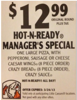Little Caesars Coupons Coupons, Printable coupons, Crazy