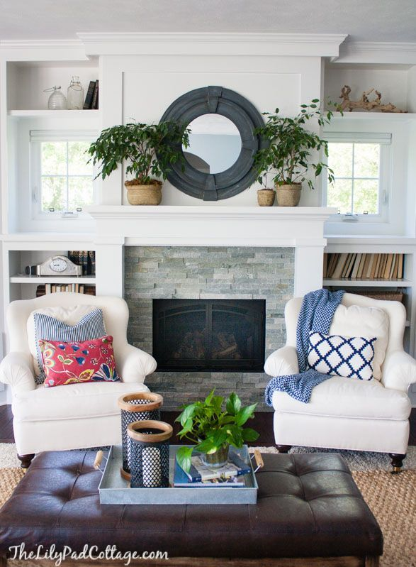 style living room furniture cottage. White Living Room Furniture Lends Cottage Style To This Lake House Home.