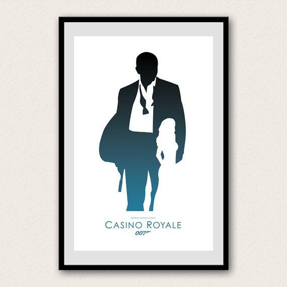 James Bond 007 Minimalist Poster Casino Royale Bond James