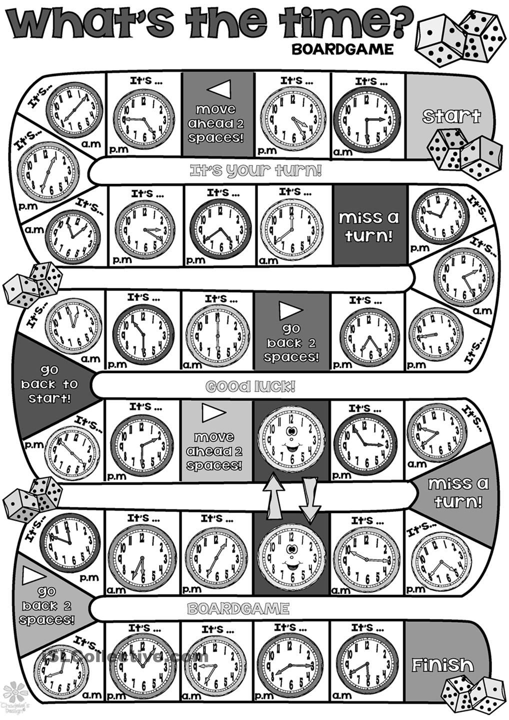 Whats the time BOARDGAME- Repinned by Chesapeake College Adult Ed. We offer free classes on the Eastern Shore of MD to help you earn your GED - H.S. Diploma or Learn English (ESL). www.Chesapeake.edu