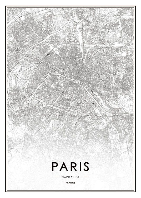 Pin By Penille Liv Arevad On Art Pinterest Paris Poster And: Framed Map Of Paris At Slyspyder.com