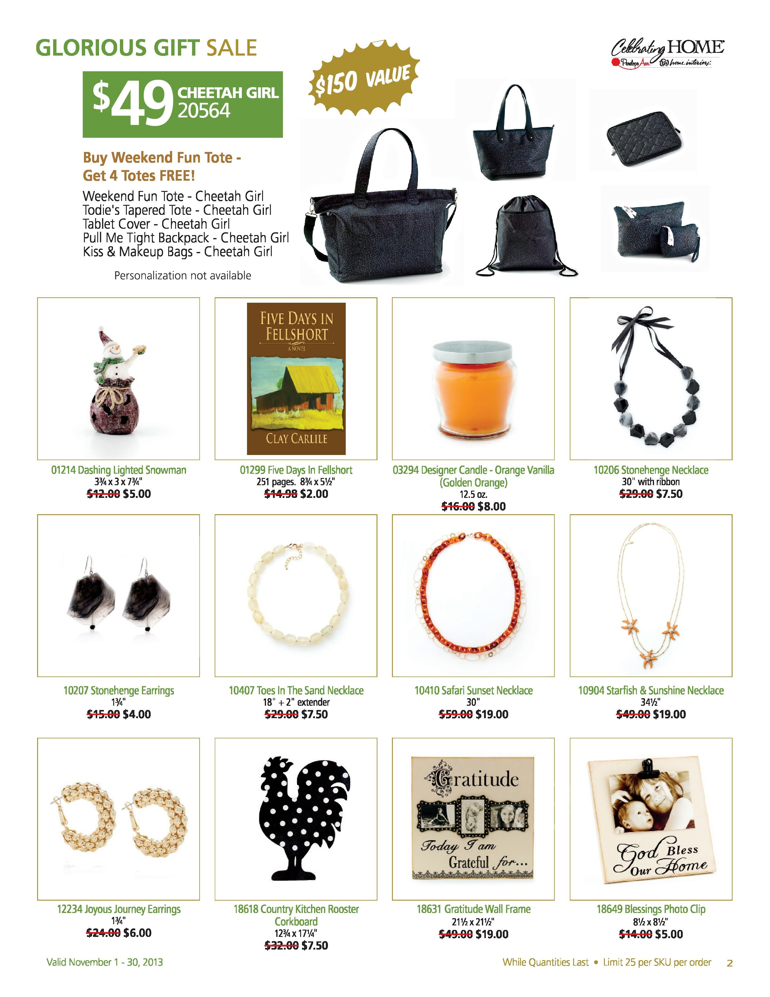 Glorious gift sale november 2013 sales gifts