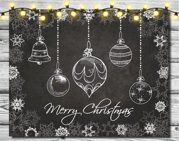 Christmas card printable Snowflakes art print Christmas print Winter art print Christmas art printable Merry Christmas wall art print #gesso