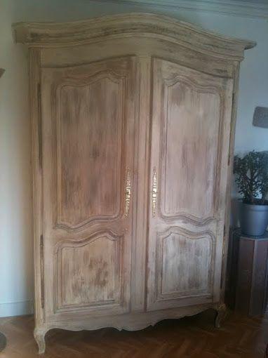 Armoire Bretonne patine Design intérieur Aménagement Pinterest - comment ceruser un meuble