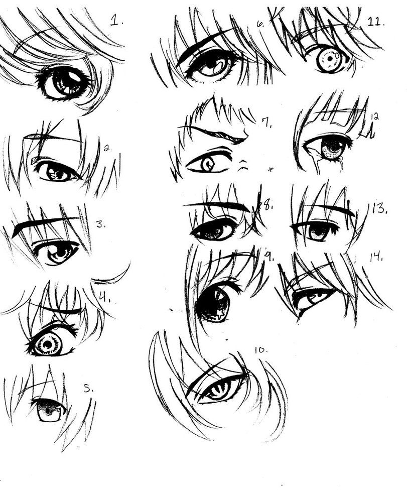 Anime guy eyes google search