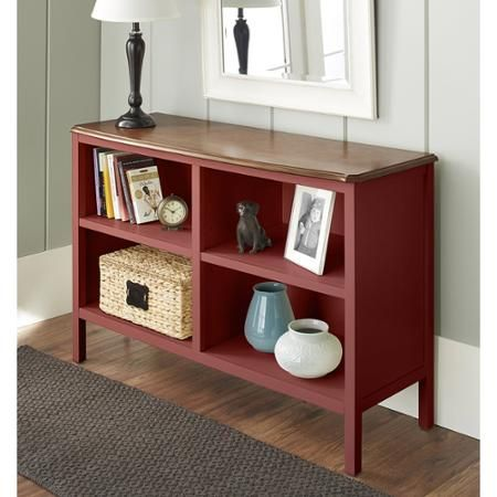 10 Spring Street Hinsdale Horizontal Bookcase Multiple Colors Walmart Com Horizontal Bookcase Bookcase Red Bookcase