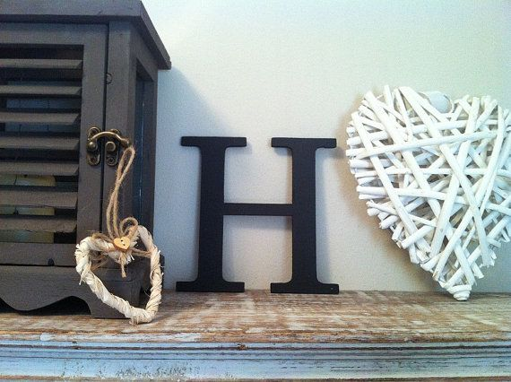 Wooden Wall Letter Hand Painted Roman Font H By Lovelettersme Alphabet Wallpaper Stylish Alphabets Wooden Wall Letters