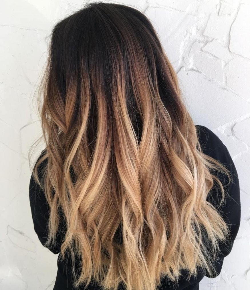 inspiring hairstyles brown hair with blonde ombre dark pics