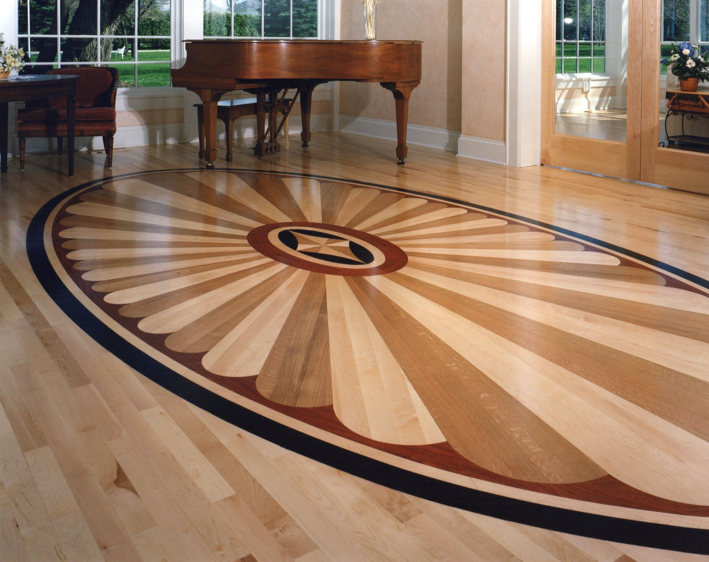 Rosetta Wood Medallion 2003 Floor Medallion By Oshkosh Designs Wood Floor Pattern Wood Floor Design Floor Design