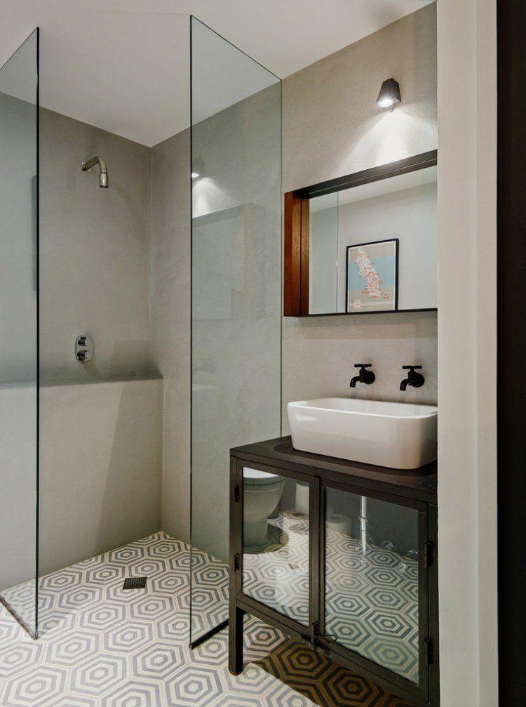 carrelage salle de bains et 7 tendances suivre en 2015 salle de bain bathroom pinterest. Black Bedroom Furniture Sets. Home Design Ideas