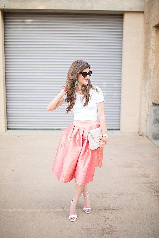 Outfit Post: Peachy Midi Skirt