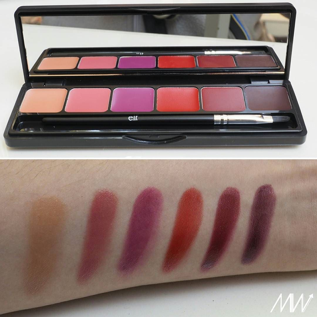 e.l.f. Runway Ready Lip Palette #elfcosmetics #swatches #lipstick ...