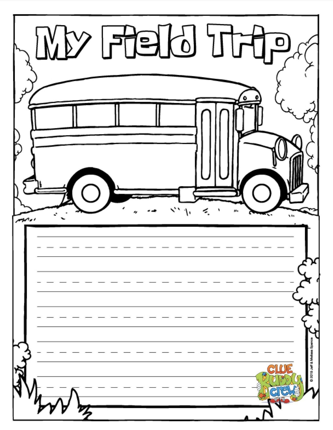 My Field Trip Reflection Writing Sheet